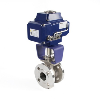 Electric Actuator V-Type Flanged Ball Valves