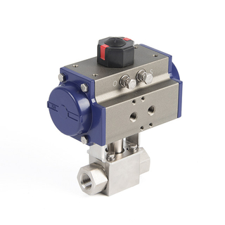 Pneumatic PN10/16/25 High Pressure Ball Valve