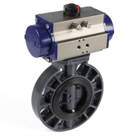 Pneumatic UPVC plastic Butterfly Valves