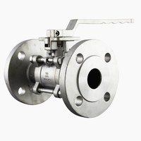 3-Piece Stainless Steel Flange Connection Ball Valve