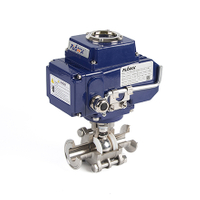 Electric Actuator 3-Piece Clamp Ball Valves