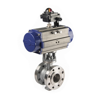 Pneumatic Hard Seal Flanged Eccentric Butterfly Valve