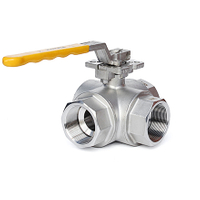 Hand Lever 3-Way Thread Ball Valves