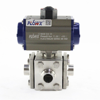 4-Way Stainless Steel Welding Ball Valves