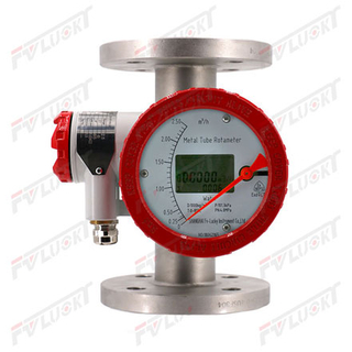 LCD Intelligent Display +/-1.5% Tolerance Metal Float Flowmeter