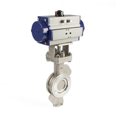 double acting pneumatic actuator butterfly valve