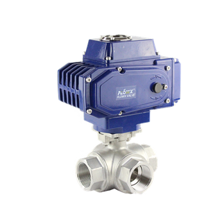 3 Way T Port Electric Ball Valve