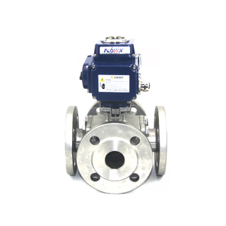 Electrically Actuated 3 Way Ball Valve