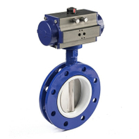Natural Gas Pnematic Controlled Butterfly Valve