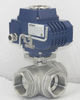 Electric 3 Way 1 Npt Ss 304 Ball Valves
